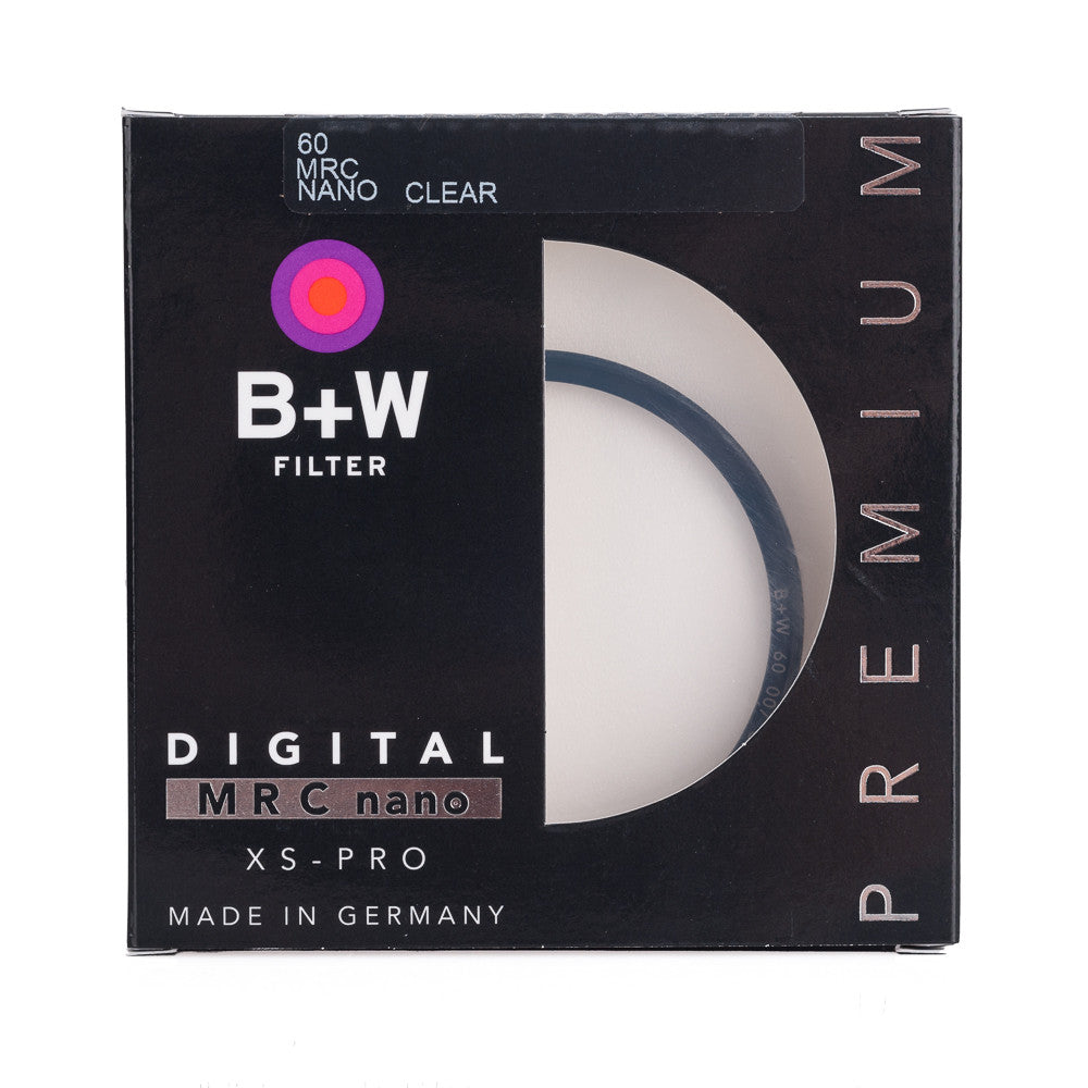 B+W 60mm XS-Pro 007M Clear Filter MRC Nano