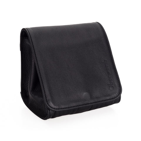 Oberwerth Jan Leather Camera Pouch, Black