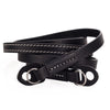 Arte di Mano 120cm Extra Long Comodo Neck Strap - Minerva Black with White Stitching