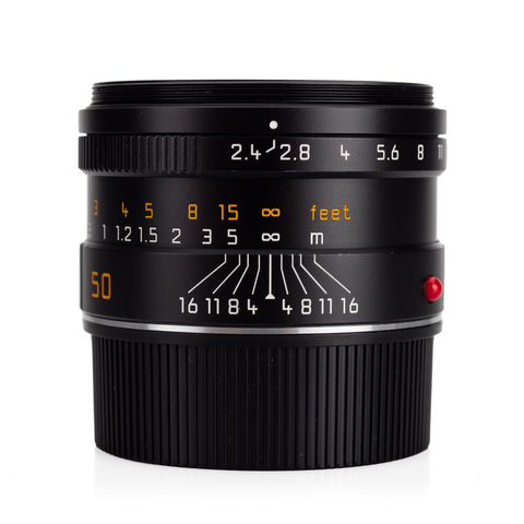 Used Leica Summarit-M 50mm f/2.4, Black Anodized - UVa Filter