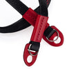 Arte di Mano Comodo Neck Strap - Minerva Black with Buttero Red Accents