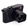 Arte di Mano Leica Q (Typ 116) Half Case with Battery Access Door - Minerva Black with Black Stitching