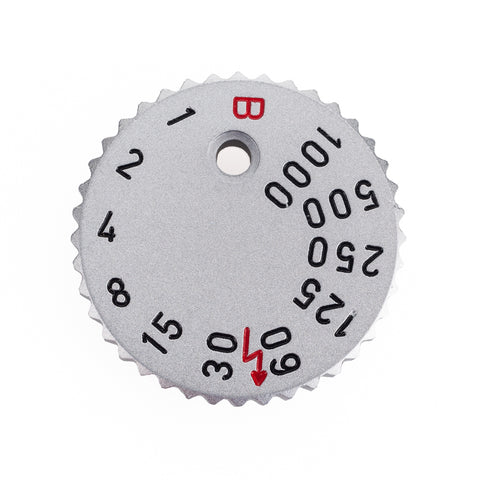 Leica Shutter Speed Dial, Silver for M6 Classic