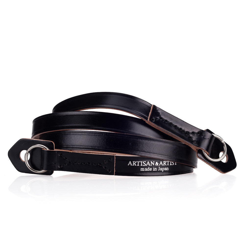 Artisan & Artist* ACAM 262 Leather Strap - Black