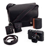 Leica M (Typ 262) Set with Summarit-M 50mm f/2.4 Black, Oberwerth for Leica Bag, Black & Cognac SD Card Holders