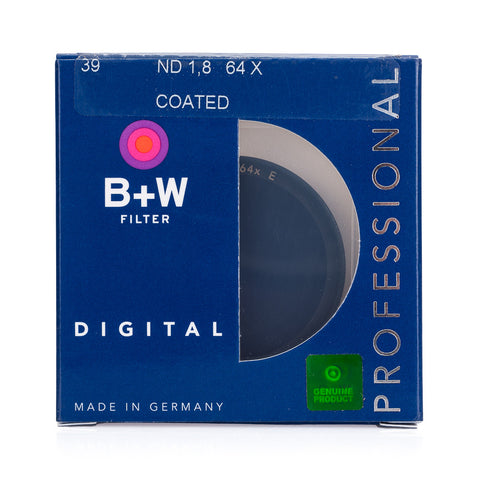 B+W 39mm F-Pro 106E 1.8 ND Filter Coated (6-Stop)