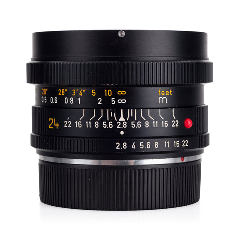 Used Leica Elmarit-R 24mm f/2.8 3-CAM V1 (1977) - Recent DAG CLA