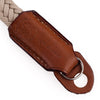 Arte di Mano Waxed Cotton Hand Strap - Beige Cotton with Barenia Tan Leather Accents