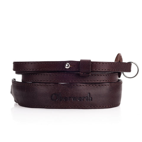 Oberwerth Mosel - Leather Camera Strap, Dark Brown
