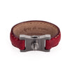Arte di Mano Leather Finger Loop for Leica M (Typ 240) - Rally Bordo, Silver Metal
