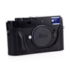 Arte di Mano Half Case for Leica M-D (Typ 262) with Battery Access Door - Minerva Black with Black Stitching