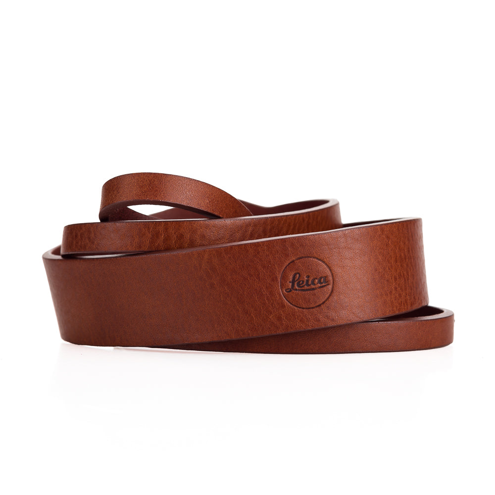 Leica Q-P Brown Leather Shoulder Strap