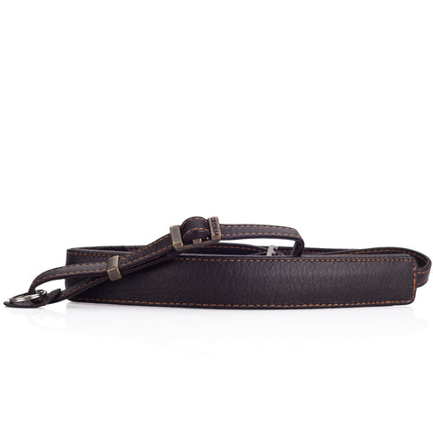Cecilia Leather Neck Strap, Brown
