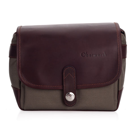 Oberwerth Frankfurt Leather/Cordura Camera Bag, Dark Brown