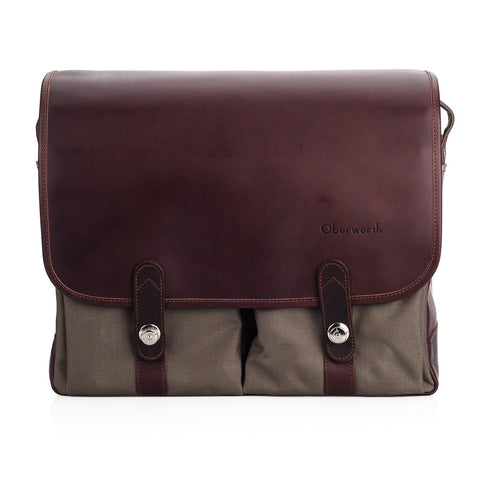 Oberwerth Porto SL Camera Bag Cordura/Leather, Olive/Dark Brown