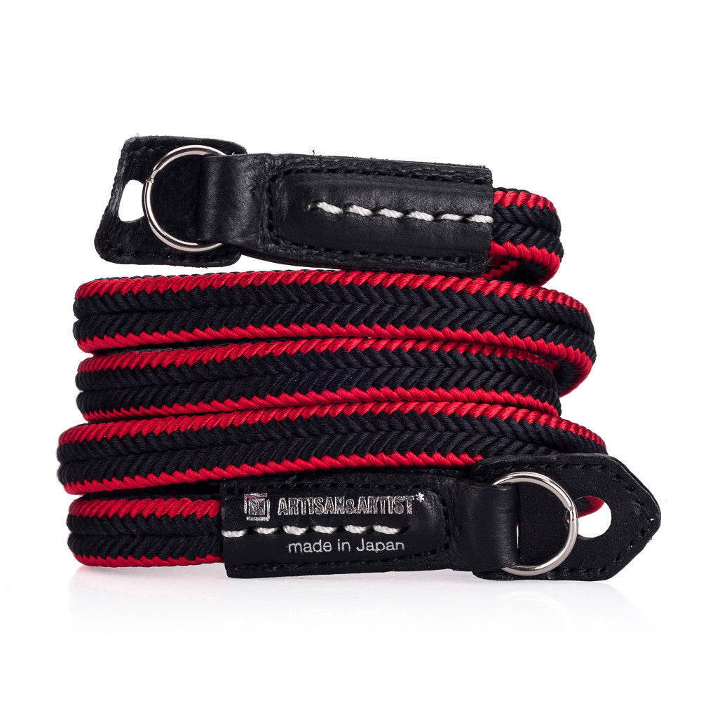 Artisan & Artist* ACAM 310 Silk Neck Strap - Black/Red