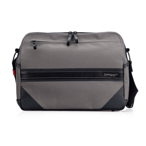 Artisan & Artist* ACAM 9300 Canvas/Leather Camera Bag, Grey