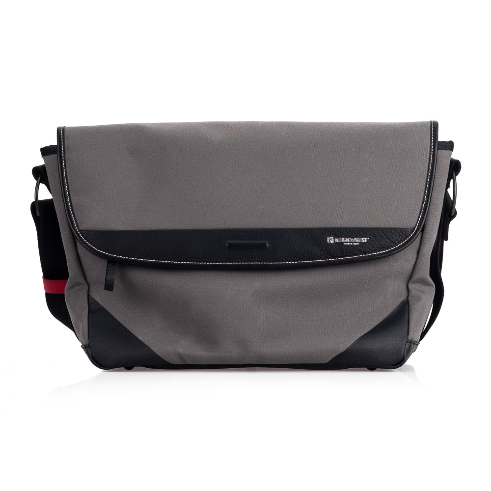 Artisan & Artist* ACAM 9100 Canvas/Leather Camera Bag, Grey