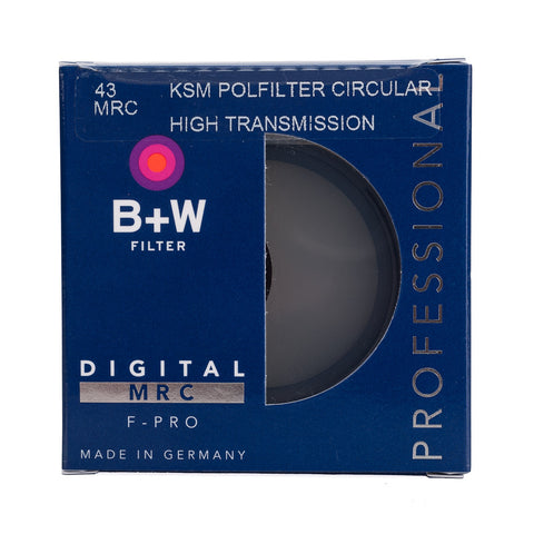 B+W  43mm F-Pro Kaesemann High Transmission Circular Polarizer MRC Filter