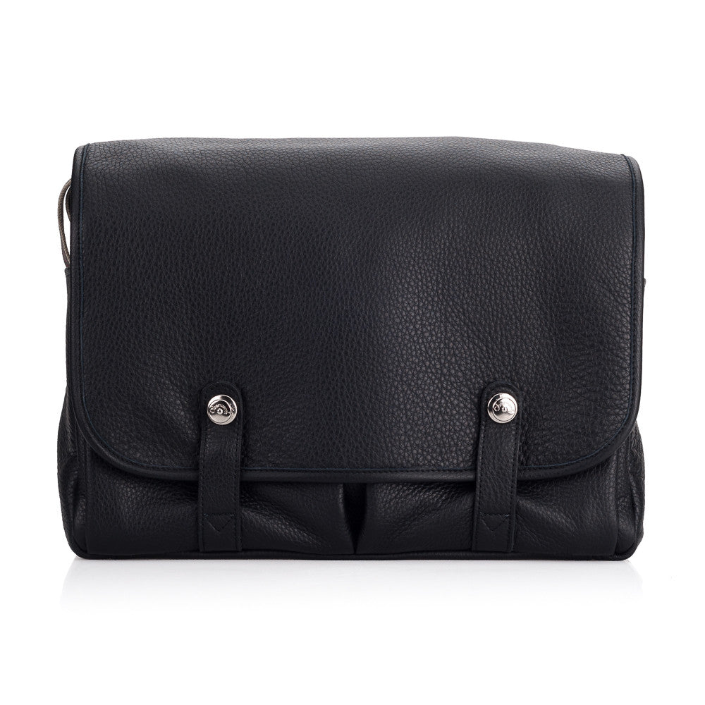 Oberwerth William Leather Photo/Business Bag, Black