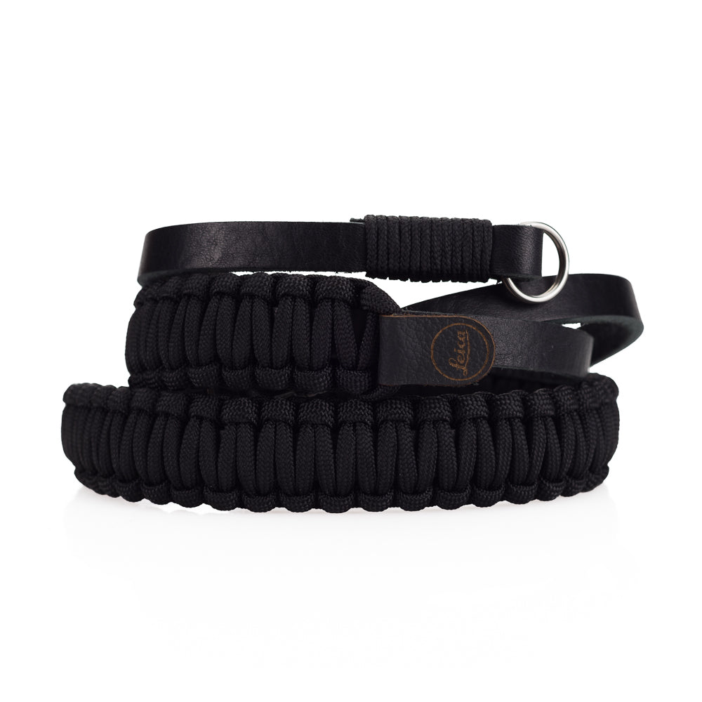 Leica Paracord Strap by Cooph, Black/Black, 100cm, Key-Ring Style