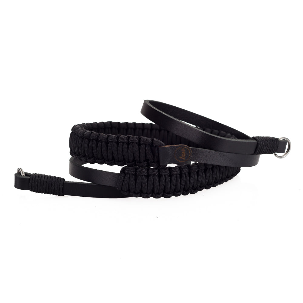 Leica Paracord Strap by Cooph, Black/Black, 126cm, Key-Ring Style