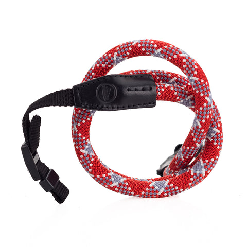 Leica Rope Strap by Cooph, Red Check, 100cm, Nylon-Loop Style