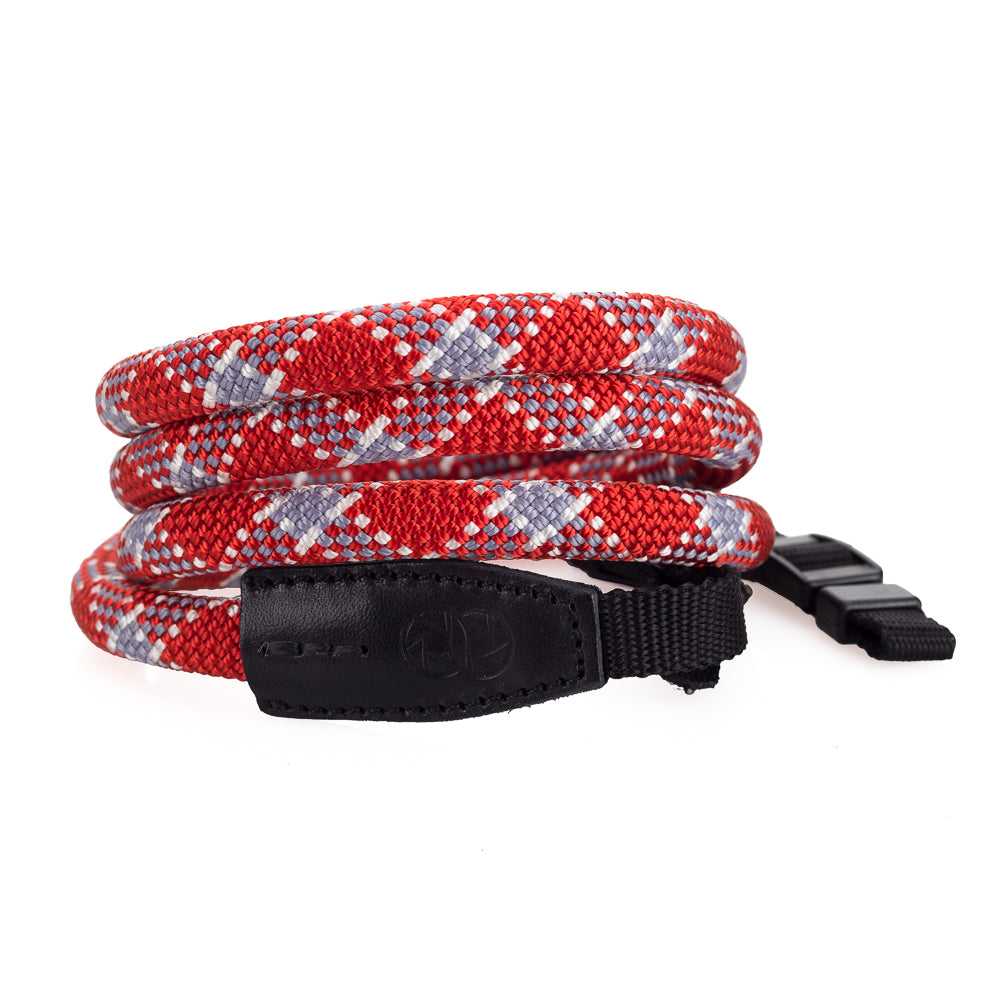 Leica Rope Strap by Cooph, Red Check, 126cm, Nylon-Loop Style