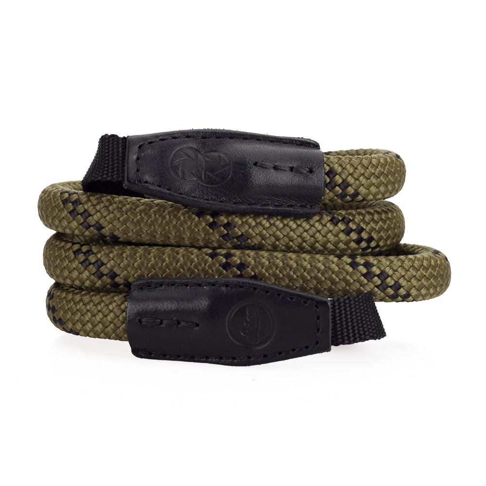 Leica Rope Strap by Cooph, Olive, 100cm, Nylon-Loop Style