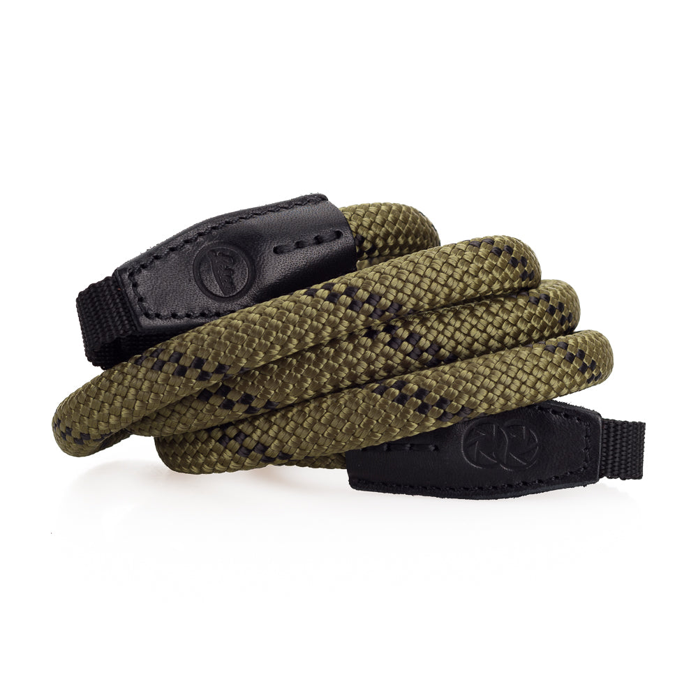Leica Rope Strap by Cooph, Olive, 126cm, Nylon-Loop Style