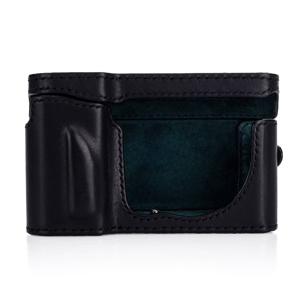 Arte di Mano Leica TL2 Full Case + Screen Cover - Minerva Black with Black Stitching