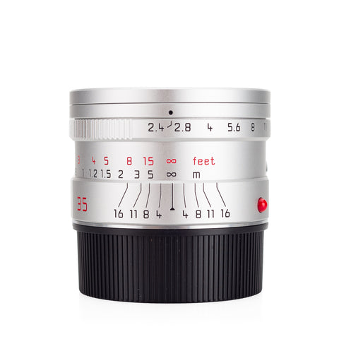 Used Leica Summarit-M 35mm f/2.4 ASPH, silver anodized