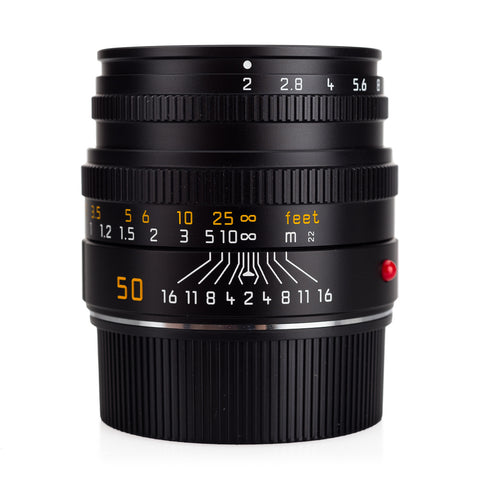 Certified Pre-Owned Leica Summicron-M 50mm f/2 (V5), Black - 6-Bit (Made in Portugal)