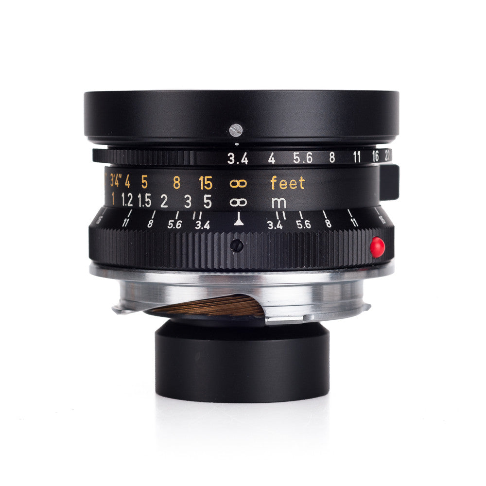 Used Leica Super-Angulon-M 21mm f/3.4 with Hood, 21mm Finder - Black