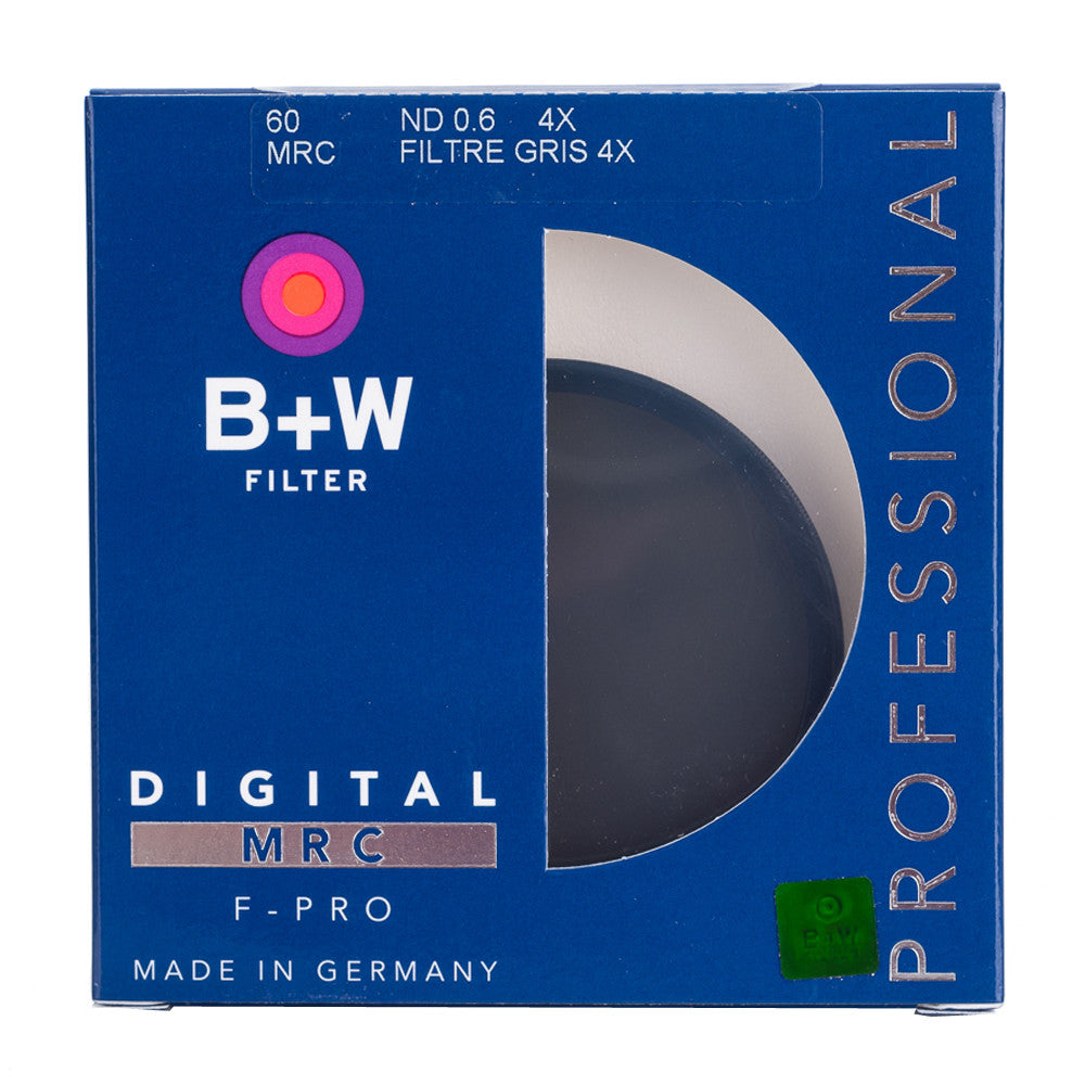 B+W 60mm F-Pro 102M 0.6 ND Filter MRC (2-Stop)