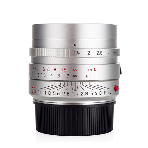 Used Leica Summilux-M 35mm f/1.4 ASPH FLE (11675), silver anodized