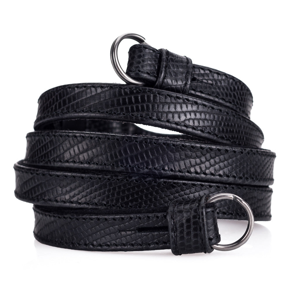 Leica Traditional carrying strap Lizard look black