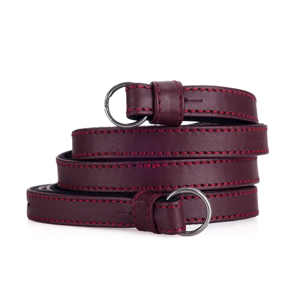 Leica Traditional carrying strap Nappa bordeaux