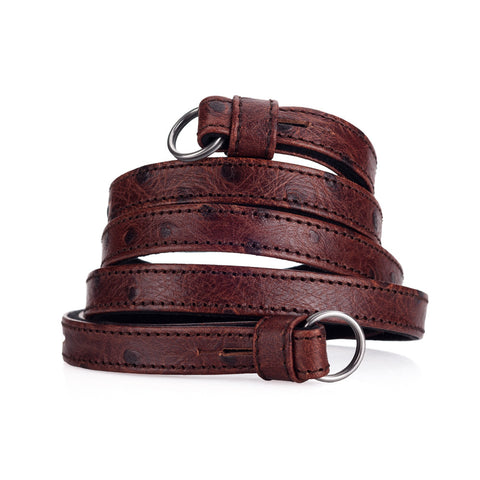 Leica Traditional carrying strap Ostrich look chestnut