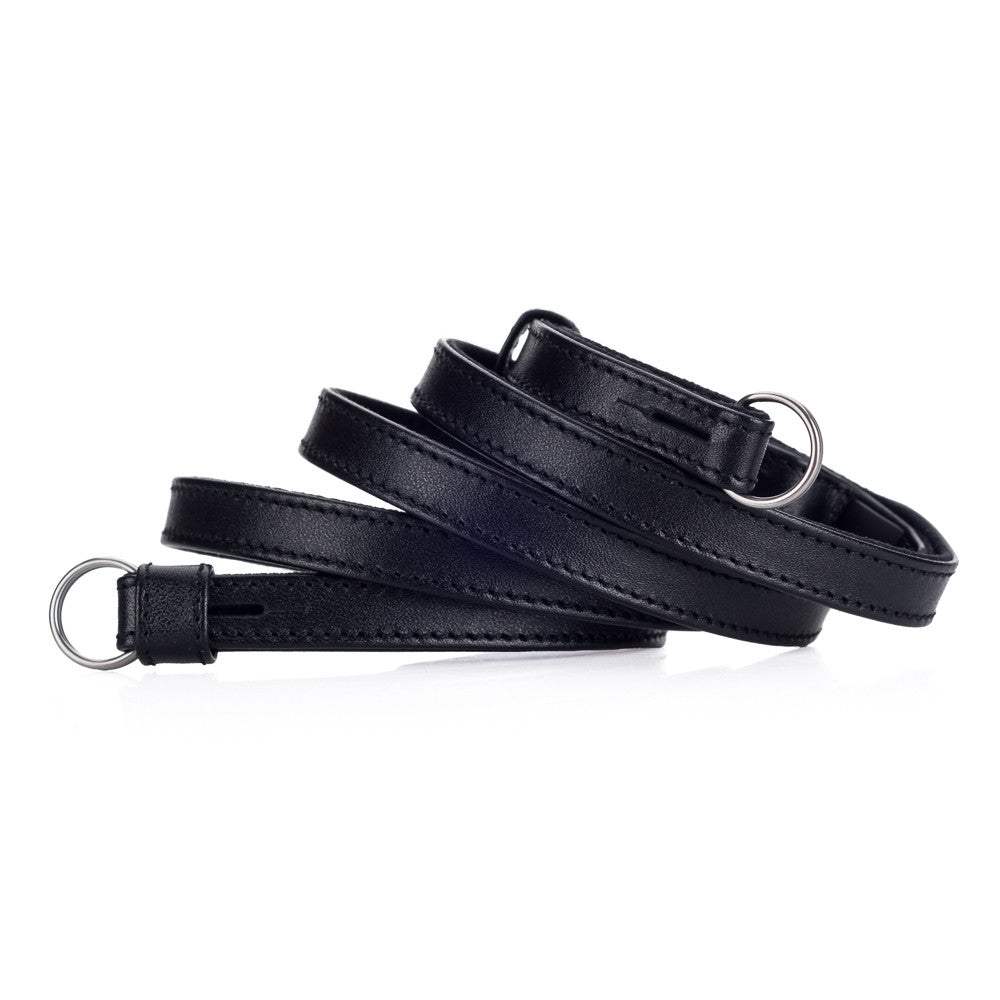 Leica Traditional carrying strap Saddle leather black