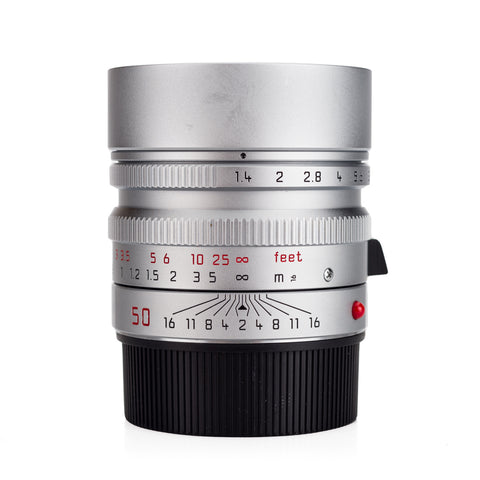 Used Leica Summilux-M 50mm f/1.4 ASPH, Silver Chrome - 6-Bit - Recent Leica CLA
