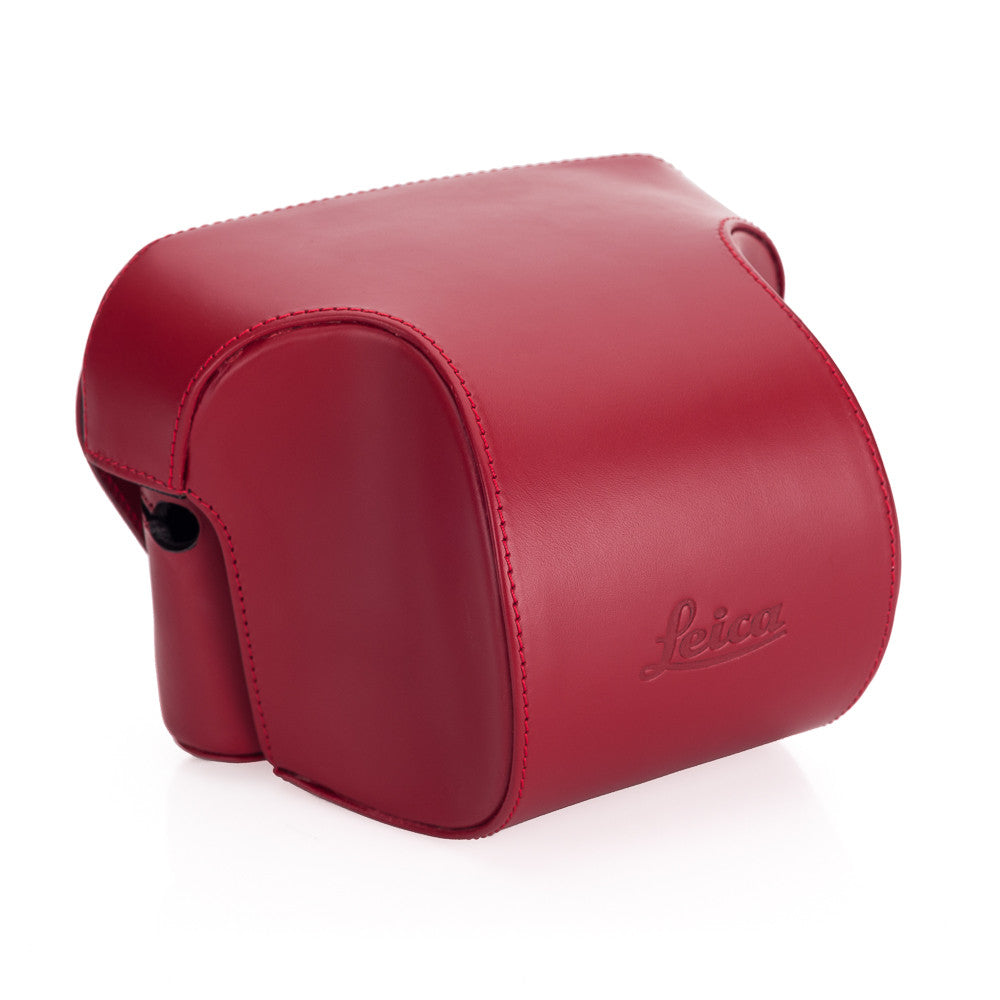 Leica Ever ready case Box calf leather red