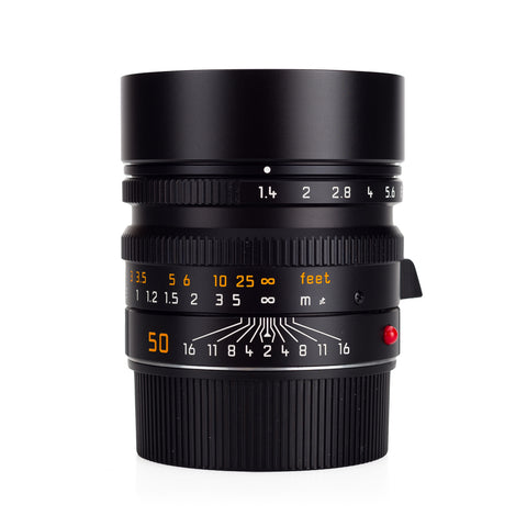 Used Leica Summilux-M 50mm f/1.4 ASPH, Black, 6-Bit - UVa Filter