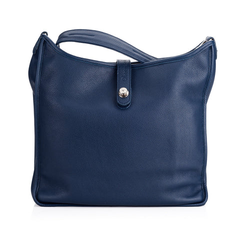 Oberwerth Kate Camera/Business Bag, Navy Leather with Silver Buckles, Clutch and Keywallet