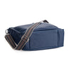 Oberwerth Kate Photo Bag, Navy Leather with Silver Buckles, Clutch and Keywallet