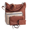 Oberwerth Kate Photo Bag, Cognac Leather with Silver Buckles, Clutch and Keywallet