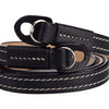 Arte di Mano Reinforced Comodo Neck Strap - Minerva Black with White Stitching