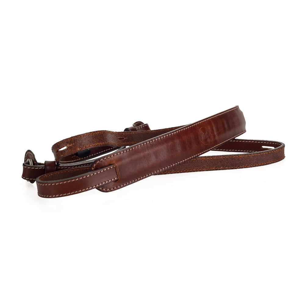 Used Leica Leather Carrying Strap, Vintage Brown