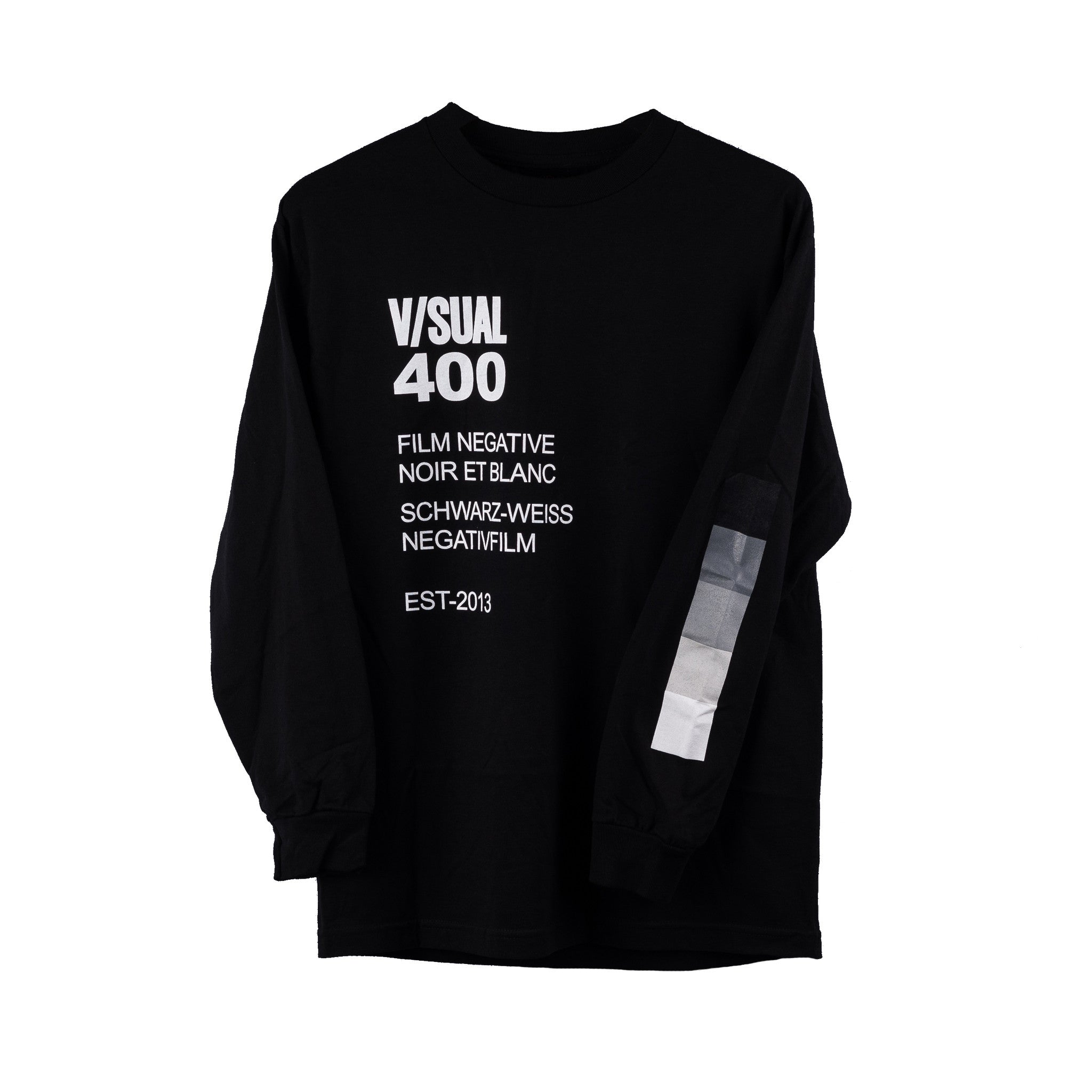 V/SUAL Negative Long Sleeve Tee, Black, Small