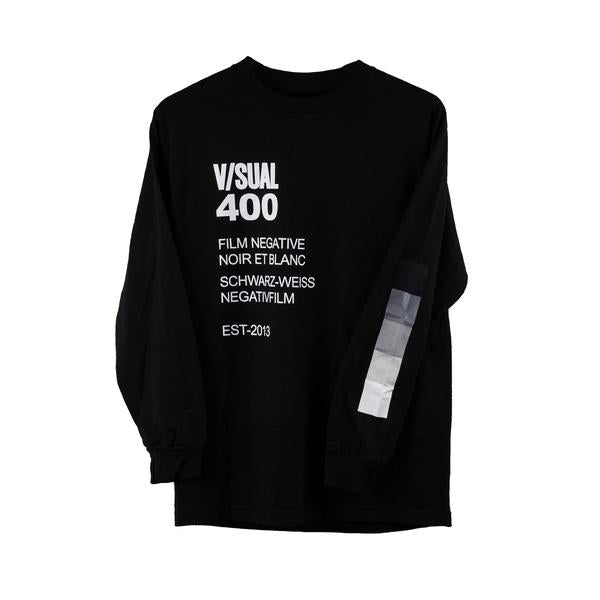 V/SUAL Negative Long Sleeve Tee, Black